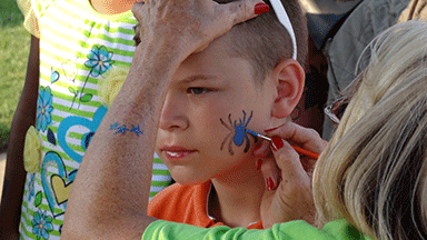 Face_Painting at Rockets Over Rhema